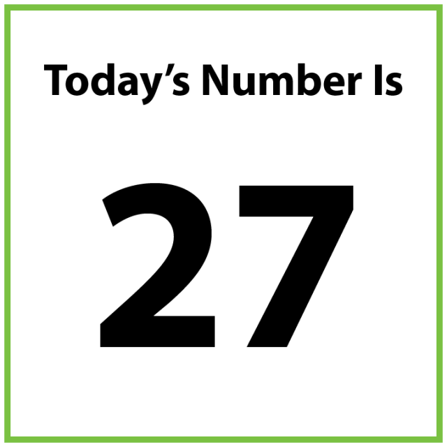 Today's number is 27.
