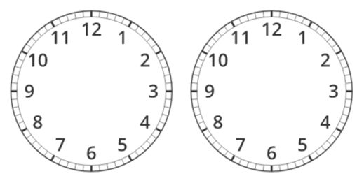 two blank clock faces