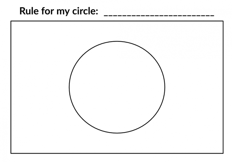 Rule for my circle is blank. An empty circle for drawing