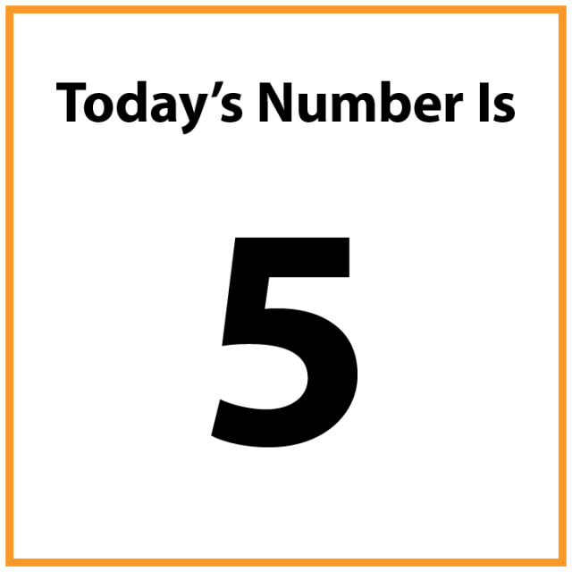 Today's number is 5.